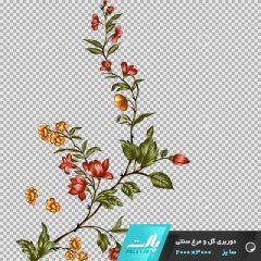 دانلود فایل دوربری شده گل و مرغ سنتی گل شاخه ای در ابعاد 3000 در 2000