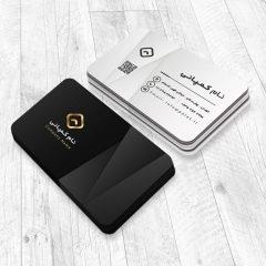 دانلود طرح لایه باز کارت ویزیت شرکتی و شخصی با تم رنگی سفید و سیاه