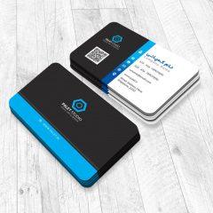 دانلود طرح لایه باز کارت ویزیت شرکتی و شخصی با تم رنگی آبی و مشکی