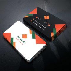 دانلود طرح لایه باز کارت ویزیت شرکتی و شخصی با تم رنگی نارنجی مشکی