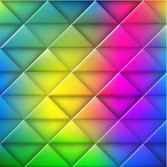 بک گراند وکتور با کیفیت با طرح مثلث های رنگی