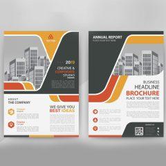 دانلود وکتور گرافیکی بروشور تجاری با طراحی گرافیکی