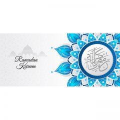 ماه رمضان با طراحی گل بصورت گنبد و مسجد