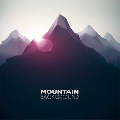 بک گراند گرافیکی با طرح کوهستان
