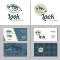 دانلود وکتور لایه باز کارت ویزیت مناسب برای آرایشگاه و سالن زیبایی