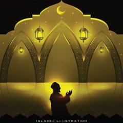 دانلود تصویر وکتور لایه باز ماه رمضان