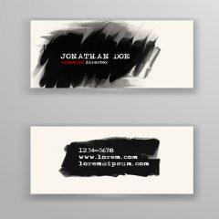 دانلود وکتور گرافیکی کارت ویزیت لایه باز سیاه و سفید اسپرت