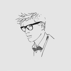 دانلود وکتور لایه باز پرتره مرد نیم رخ عینکی مناسب بوتیک و آرایشگاه
