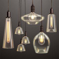 دانلود پس زمینه وکتور 3بعدی طرح لامپ شیشه ای دکوری خاص2