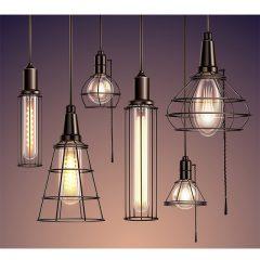 دانلود بک گراند 3 بعدی وکتور لایه باز طرح لامپ حفاظ دار با پس زمینه خاص