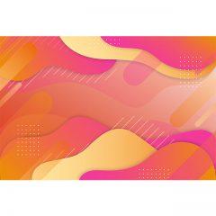 دانلود تصویر پس زمینه سه بعدی موج دار رنگی با رنگ های شاد فانتزی
