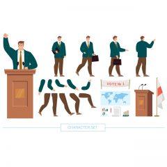 فایل کاراکتر لایه باز آقای وکیل موفق برای موشن گرافیک و انیمیشن