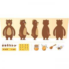 دانلود پک کامل وکتور کاراکتر خرس شکمو برای موشن گرافیک و انیمیشن