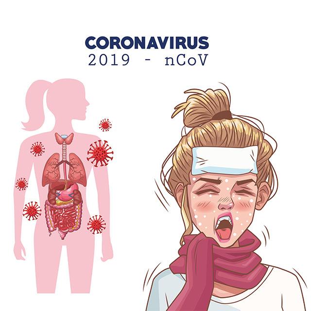 دانلود طرح وکتور لایه باز پوستر علائم بیماری کرونا 2019