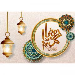 طرح ماه مبارک رمضان با زمینه گرافیکی