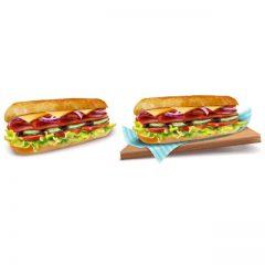 وکتور ساندویچ سوسیس با طراحی زیبا و جذاب