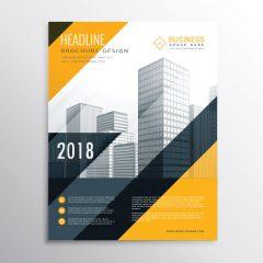 دانلود وکتور لایه باز کاتالوگ مخصوص مشاغل با رنگبندی نارنجی و مشکی 2018