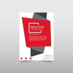 دانلود طرح لایه باز گرافیکی بروشور تجاری رنگ قرمز شیک