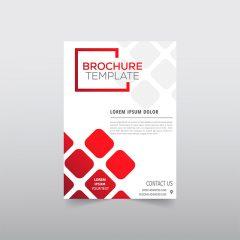 دانلود طرح لایه باز خاص بروشور با زمینه ای قرمز سفید