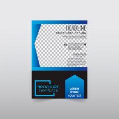 دانلود لایه باز جلد بروشور و کاتالوگ شرکتی با طرح جذاب آبی