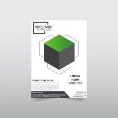 دانلود تصویر وکتور بروشور و کاتالوگ لایه باز تجاری با زمینه سفید