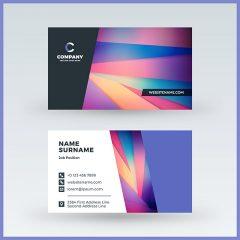 طرح لایه باز کارت ویزیت شرکتی با طراحی زیبا