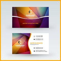 وکتور لایه باز کارت ویزیت خارجی با متن نام شرکت و ایمیل