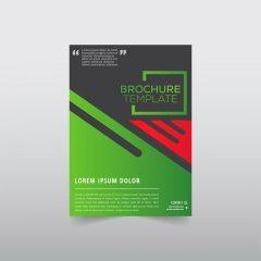 دانلود وکتور تراکت و کاتالوگ سبز تجاری زیبا