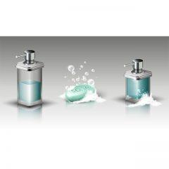 دانلود وکتور صابون و مایع دستشویی برای حموم و دستشویی