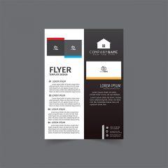 دانلود وکتور لایه باز Company بروشور با رنگبندی سیاه و سفید