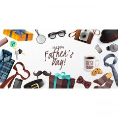 دانلود وکتور Happy Father's Day با تصاویر اکسسوری به مناسبت روز پدر