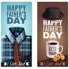 دانلود تصویر وکتور لایه باز تبریک روز پدر با طراحی ویژه و خاص