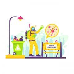 کرونا و طرح مامور کنترل ورود و خروج جهت قرنطینه