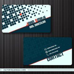 دانلود وکتور لایه باز کارت ویزیت شرکتی آبی کلاسیک با طراحی خاص و زیبا