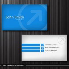 وکتور کارت ویزیت تجاری آبی رنگ