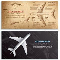 دانلود وکتور لایه باز هواپیمای مسافربری با فرمت eps