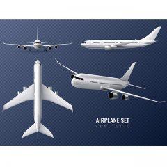 دانلود وکتور مجموعه لایه باز هواپیمای مسافربری
