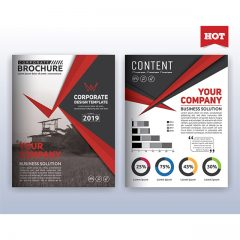 دانلود تصاویر وکتور لایه باز فایل بروشور و کاتالوگ شرکتی 2019 با حاشیه و فونت قرمز