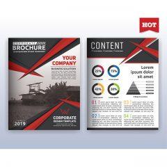 دانلود تصاویر وکتور لایه باز فایل بروشور و کاتالوگ شرکتی با دیزاین و رنگبندی خاص 2019