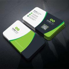 دانلود کارت ویزیت تجاری در 4 رنگ PSD لایه باز