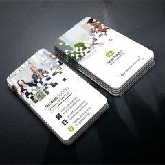 دانلود کارت ویزیت لایه باز خاص طرح روشن سفید و خاکستری