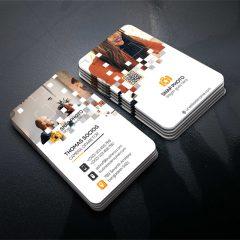 کارت ویزیت تجاری با فرمت پی اس دی و بصورت لایه باز-سایت پالت