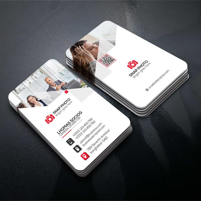 دانلود تصاویر لایه باز کارت ویزیت شرکتی با رنگ سفید