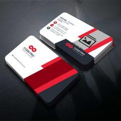 دانلود طرح لایه باز کارت ویزیت شرکتی در 4 رنگ PSD