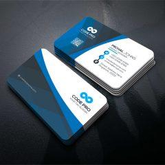 دانلود کارت ویزیت لایه باز در 4 رنگ PSD