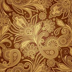 دانلود وکتور پس زمینه با طرح گل های ترنج و ترمه (بته جقه) با رنگ های جذاب
