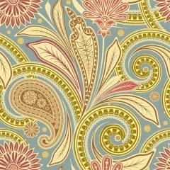 دانلود وکتور لایه باز مجموعه المان های گل خطی با طرح ترمه
