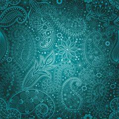 دانلود مجموعه وکتور پترن ترمه آبی زیبا