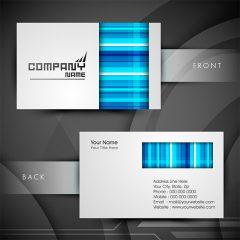 دانلود وکتور لایه باز کارت ویزیت شرکتی با قالب سفید آبی
