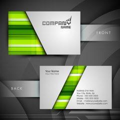 دانلود فایل وکتور لایه باز کارت ویزیت شرکتی با رنگبندی سبز